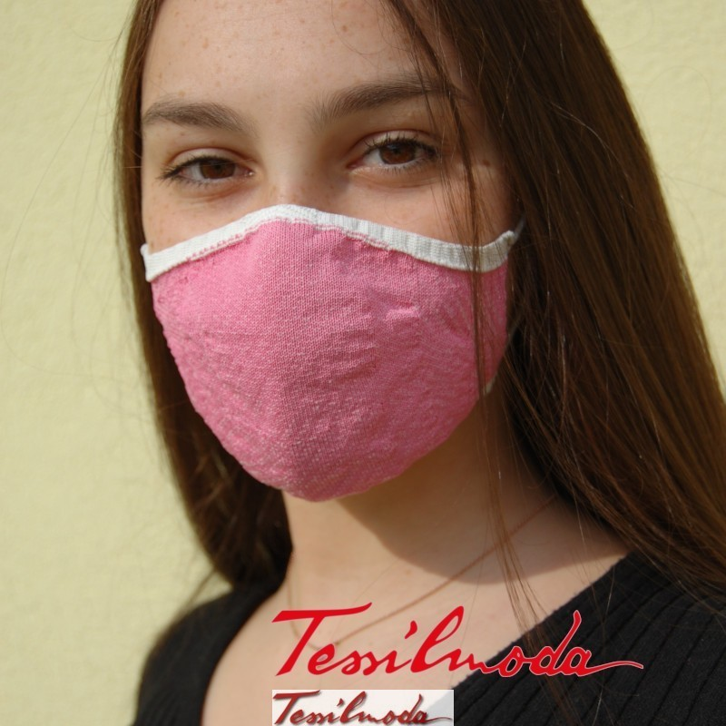 Q-Evolution Mask variante Rosa pastello fronte