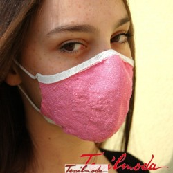 Q-Evolution Mask variante Rosa pastello fianco