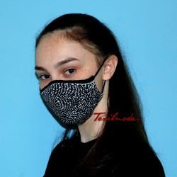 Mascherina Quick-Mask effetto ottico tre quarti