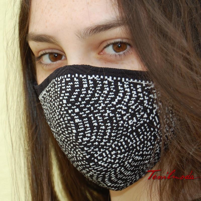 Mascherina Quick-Mask effetto ottico primo piano