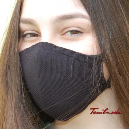 mascherina colore nero foto laterale