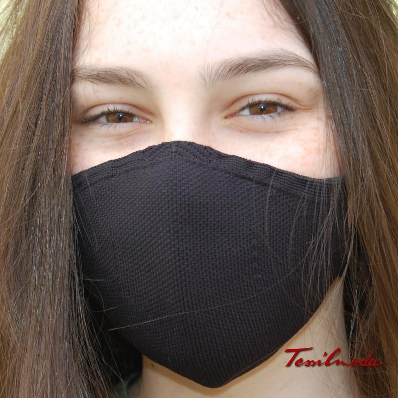mascherina colore nero foto frontale